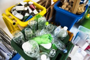 Recycle waste piled up for collection